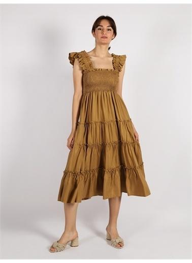Vekem-Limited Edition Elbise Haki